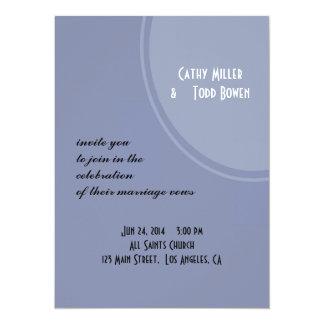 Light Blue Modern Wedding Announcement