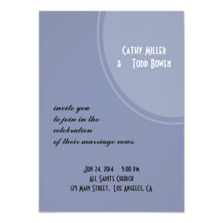 Light Blue Modern Wedding Custom Announcements