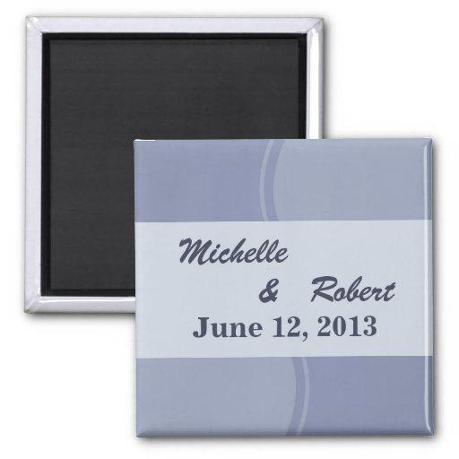Light Blue Modern Wedding Refrigerator Magnets