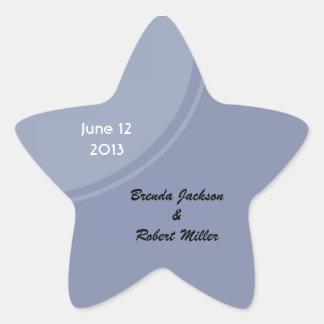 Light Blue Modern Wedding Star Sticker