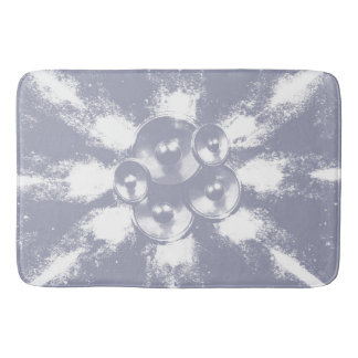 Light blue music speakers bath mats