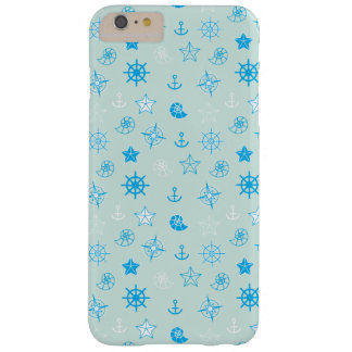 Light Blue Nautical Pattern Barely There iPhone 6 Plus Case