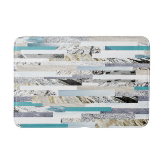 Light blue ocean theme bath mat