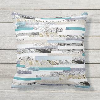 Light blue ocean theme outdoor cushion