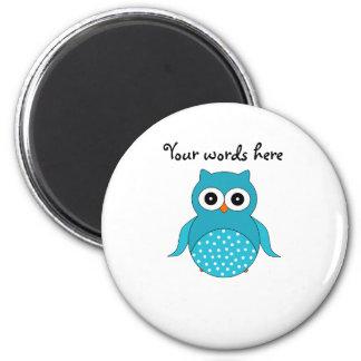 Light blue owl fridge magnets