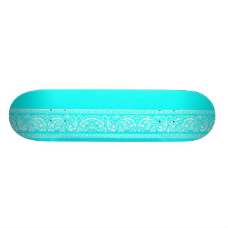 Light Blue Paisley Skateboard Pro