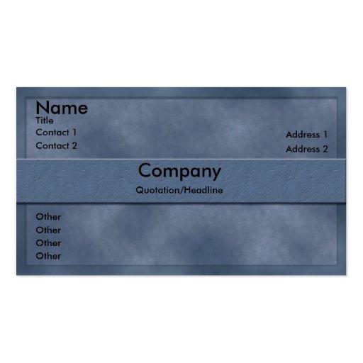 Light Blue Parchment Business Card