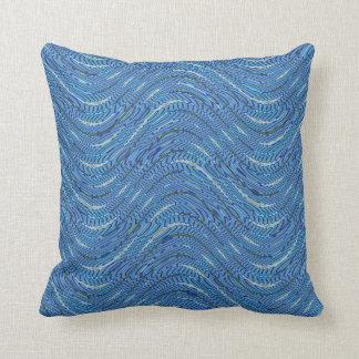 light blue pattern cushion