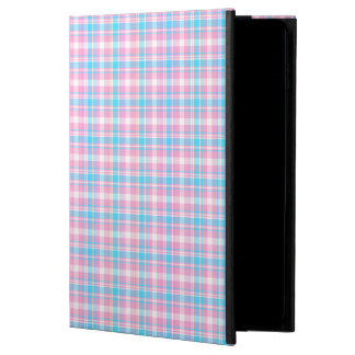 Light Blue, Pink and White Plaid Powis iPad Air 2 Case