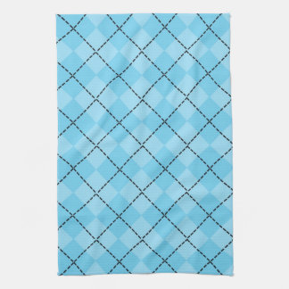 Light Blue Plaid Kitchen Towel