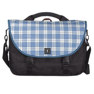 Light Blue Plaid Laptop Bags