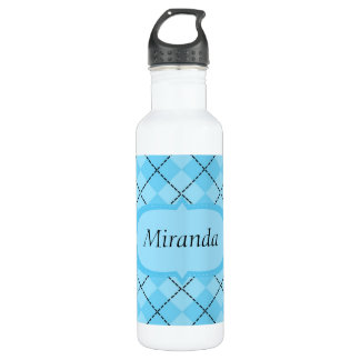 Light Blue Plaid Liberty 710 Ml Water Bottle