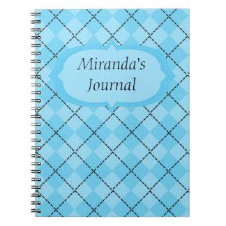 Light Blue Plaid Note Books