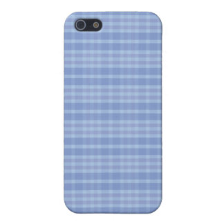 Light Blue Plaid Pattern Case For iPhone 5