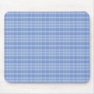 Light Blue Plaid Pattern Mousepad