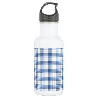 Light Blue Plaid 18oz Water Bottle