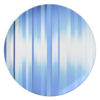 Light Blue Plaid Dinner Plates