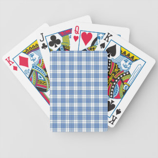 Light Blue Plaid Bicycle Poker Cards