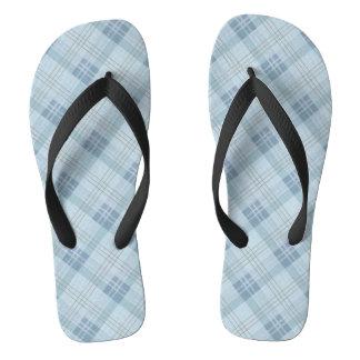 Light Blue Plaid Thongs
