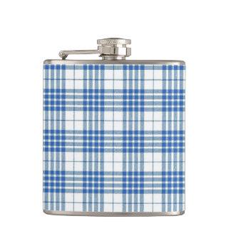 Light Blue Plaid Hip Flasks