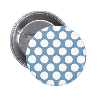 Light Blue Polkadot Pinback Button