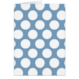Light Blue Polkadot Card