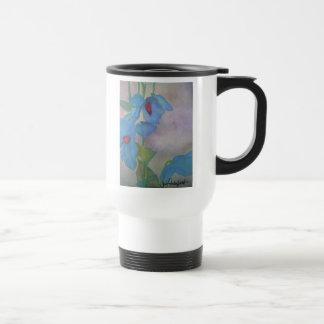 Light Blue Poppies Mug