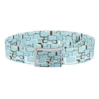 Light Blue Retro Squares Belt