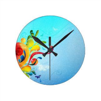 Light Blue Round Clock