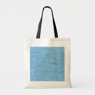 Light Blue Rustic Grunge Burlap Texture Bags