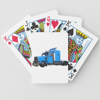 Light Blue Semi Truck in Three Quarter View Bicycle Playing Cards