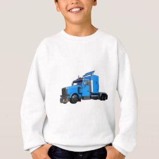 Light Blue Semi Truck in Three Quarter View Sweatshirt
