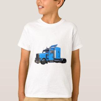 Light Blue Semi Truck in Three Quarter View T-Shirt