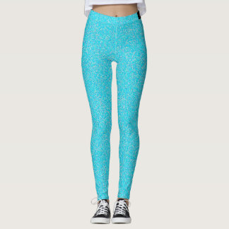 Light  Blue speckled Leggings