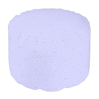 Light Blue Squiggly Squares Pouf
