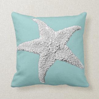 Light Blue Starfish Pillow
