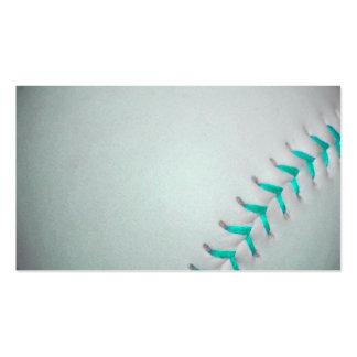 Light Blue Stitches Baseball / Softball Business Card