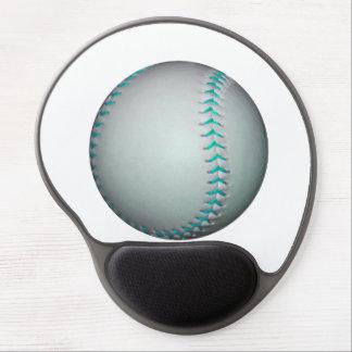 Light Blue Stitches Baseball / Softball Gel Mouse Pad