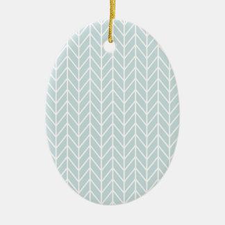 light blue stripes pattern ceramic oval decoration