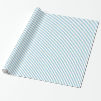 Light Blue Stripes Wrapping Paper
