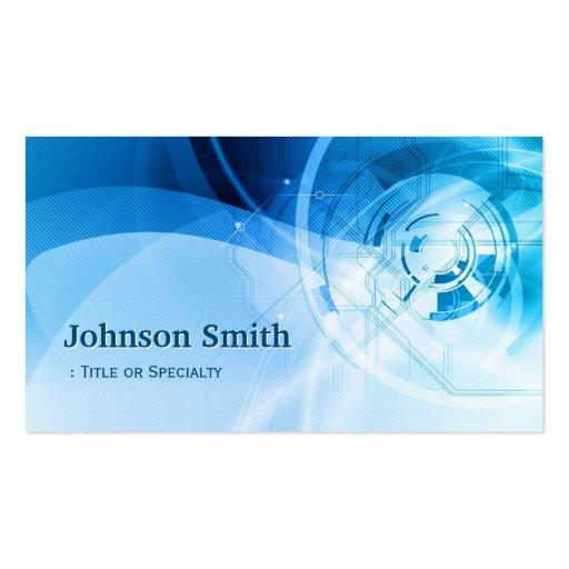 Light Blue Stylish - Modern and Hi-Tech Business Card Templates