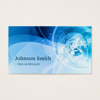 Light Blue Stylish - Modern and Hi-Tech Business Card