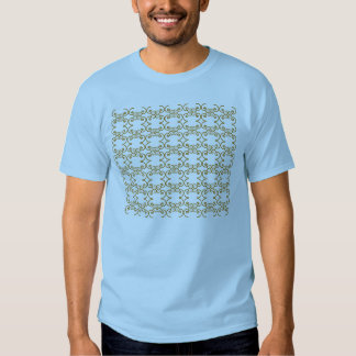light blue t-shirt with mocha design