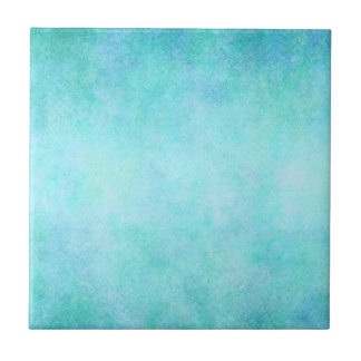 Light Blue Teal Aqua Watercolor Paper Colorful Tile