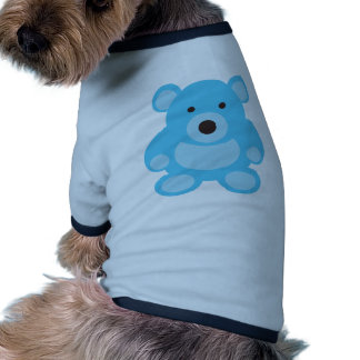 Light Blue Teddy Bear Ringer Dog Shirt