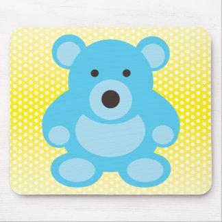 Light Blue Teddy Bear Mouse Pad