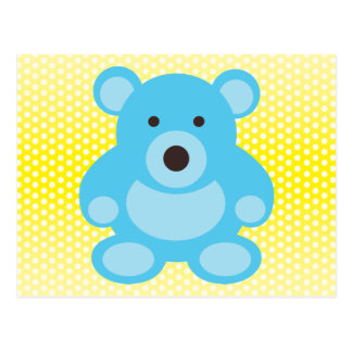 Light Blue Teddy Bear Postcard
