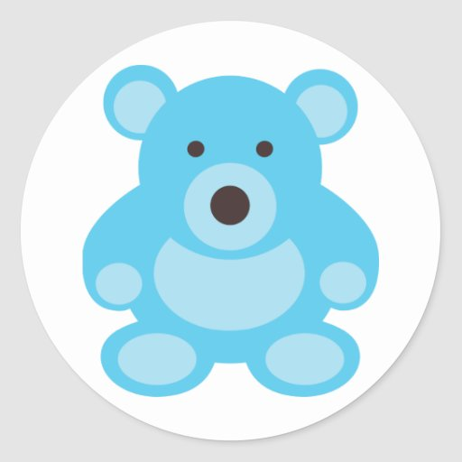 Light Blue Teddy Bear Sticker
