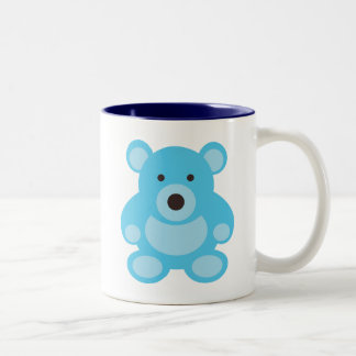 Light Blue Teddy Bear Two-Tone Mug