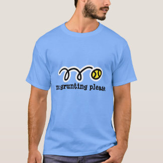 Light blue tennis t shirt | No grunting please